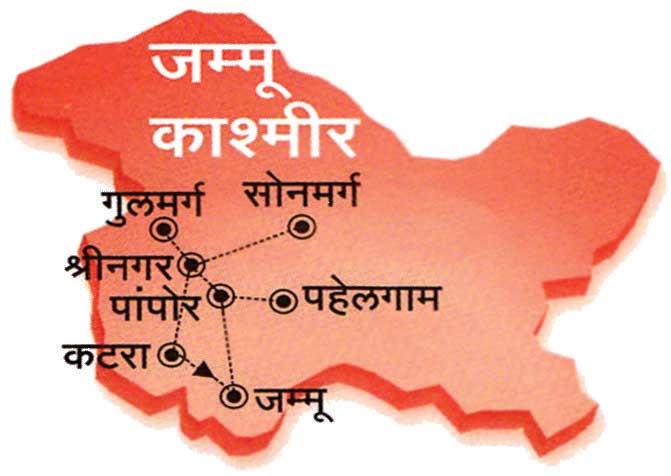 Kashmir Tours map